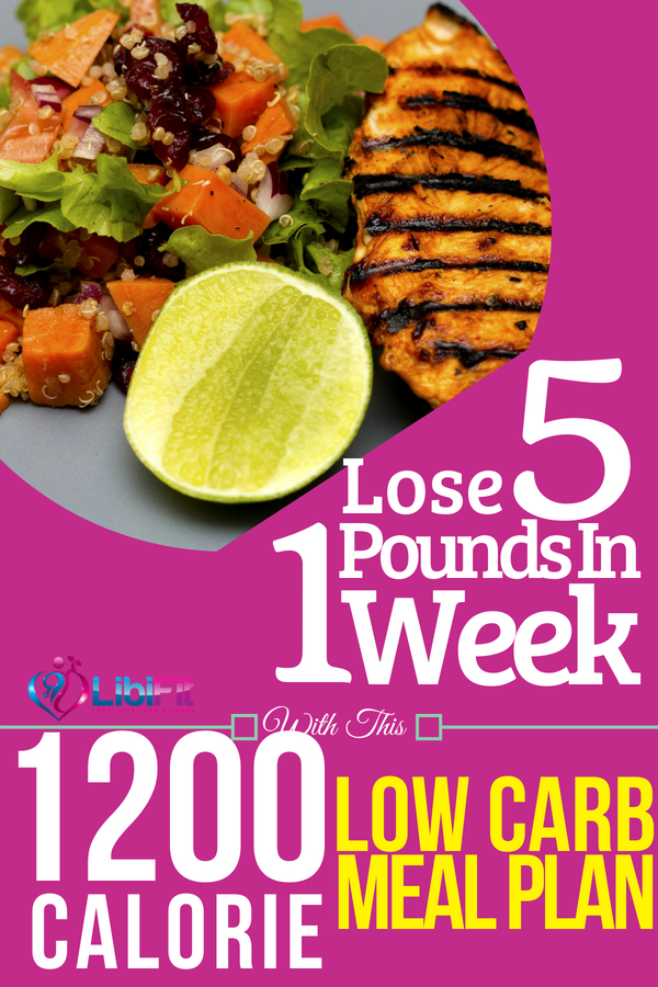 Lose 5 Pounds in 1 Week with this 1200 Calorie Low Carb ...
